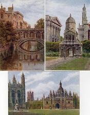 5 Cambridge Artist signed A R Quinton unused old pcs  Salmon