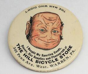 c.1930s vintage BIKE STORE  Advertising Pocket Mirror - BICYCLE, Warren, PA