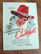 1941 Chesterfield Cigarettes Ad  Patricia Morison Girl of the Month Movie Star