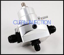 New Silver high pressure fuel regulator w/ boost -8AN 8/8/6 Pressure Regulator