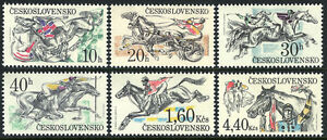 Czechoslovakia 2202-2207, MNH. Pardubice Steeplechase. Horses, 1978