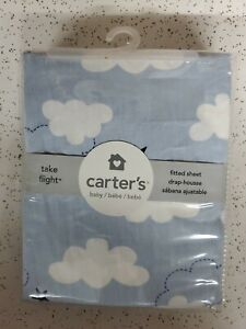 Carter's Take Flight Airplane 100% Cotton Fitted Crib Sheet, *BRAND NEW SEALED*