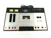 Akai CS-34D Stereo Cassette Deck Woodgrain 220-240v Europlug Parts Repair A088