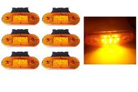 6 Pezzi 9 LED Indicatori Laterali Luci Ingombro Arancio Fanale Autocarro 12v