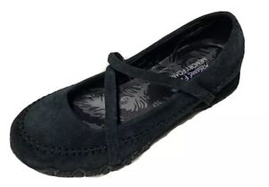 Skechers Womens Relaxed Fit Memory Foam Black Mary Janes Comfort Shoes Size 6.5