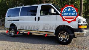 NAGD//TYG Fits 2003-2018 GMC Savana /& Chevrolet Express Van 1500 2500 3500 Passenger Side Front Hinged Door Window Glass Stationary