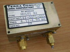 Loral TerraCom Amplifier RF Frequency x2 Multiplier 4.33 - 4.93 GHz SMA