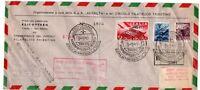 BUSTA ITALIA PRIMO VOLO ELICOTTERO TRIESTE SAN MARINO 1950 ITALY FIRST FLIGHT