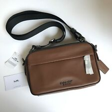 Coach * Men's Bag F39946 QB/SD Graham Crossbody in QB/Saddle Brown Leather