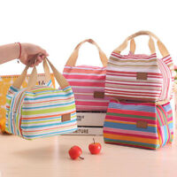 Ladies Girls Insulated Portable Thermal Cooler Lunch Box Carry Tote Storage Bag