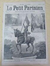 Le petit parisien 1890 73 La statue de Jeanne d'Arc à Nancy