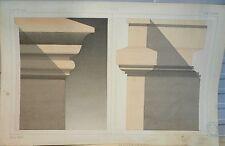 Grand Dessin Lavis de L. Dufour de 1882, piliers, World FREE Shipping*