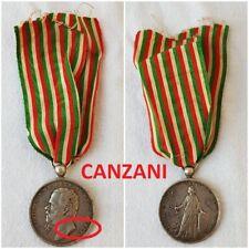 MEDAGLIA VITTORIO EMANUELE II° GUERRA D,INDIPENDENZA UNITA D'ITALIA MEDAL BADGE