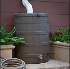 Rain Wizard 40 Gallon Plastic Rain Water Storage Barrel with Spigot Free shiping