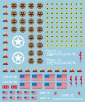 Flames of War United States American Decals, Waterslide Transfers US941