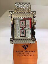 Men Aqua Master Jojo Jojino Joe Rodeo STainl Metal Band 41mm Diamond Watch W#330