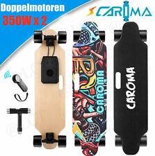 CAROMA Elektrisch Elektro E-Skateboard Longboard mit Fernbedienung Doppelmotor a