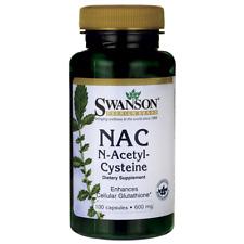 Swanson NAC N-acetyl Cysteine 600 MG 100 Caps 087614018546