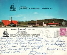 Lg. Howard Johnson's Motor Lodge & Restaurant Postcard Binghamton NY Posted 1962