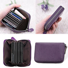 Men's Women Mini Leather Blocking ID Credit Card Holder Pocket Wallet Coin·Purse