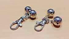 2 PACK - PAIR Jingle Bell Key Ring Chain with Metal Clasp Clip (Keyring Bells)