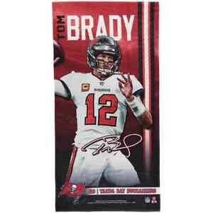 Tampa Bay Buccaneers NFL WinCraft #12 Tom Brady Beach Towel