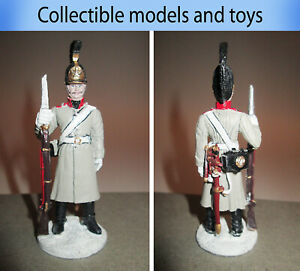 Tin soldier 1:30 Russian Army Dragoon, Dragoon Regiment in the greatcoat 1812