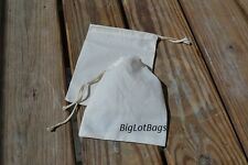 6 x 8 Inches Single Natural Muslin Bag. High Quality. Cheapest on ebay - 250
