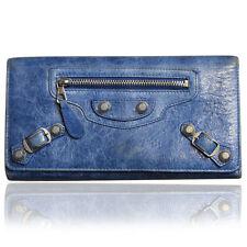 Balenciaga Blue Leather Long Stud Wallet