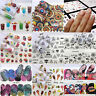 50 Sheets DIY Water Transfer Mixed Flower Stickers Decor Lace Nail Art Decals