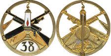 38° Régiment d'Infanterie, grand modèle ajouré, émail, Chobillon Déposé (5255)
