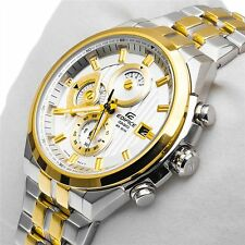 CASIO EDIFICE EF-556SG 7av PREMIUM GOLD CHRONOGRAPH MENS WATCH  2YR WARRANTY