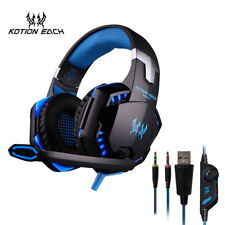 KOTION EACH earphone gaming headset 3.5 mm with microphone led for computer