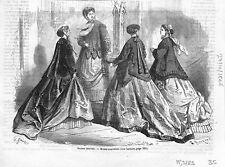 Saison d'Hiver Modes Nouvelle de Paris Robes Coiffes Vestes 1866 ILLUSTRATION