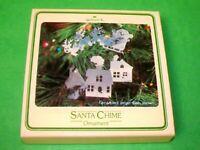 "1980 Hallmark Metal  ""Santa Chime"" Keepsake Ornament In Box With Price Tab"