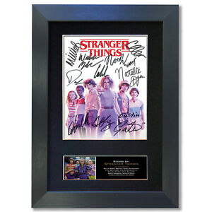 STRANGER THINGS Series 3 4 Signed Mounted Reproduction Autograph Photo Print 849