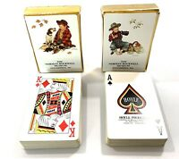 Two Decks Vintage Norman Rockwell Museum Playing Cards Boy Dog Stockbridge,MA