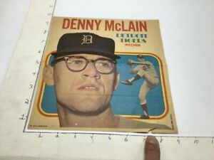 1970 Topps Pin-Ups Poster #24 of 24; DENNY McLAIN detroit tigers pitcher