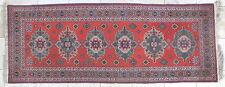 tapis galerie noué main Baktiar ancien carpet 266 x 100 cm