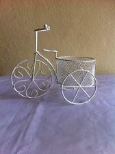 Tricycle Bike Flower Basket Vase Plant Stand Holder Home Decor + Track