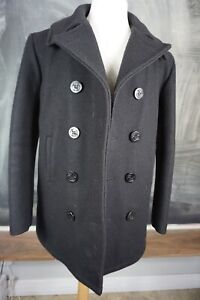 Vintage US Navy Wool Black Peacoat 38