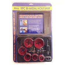 King, 9Pc Bi-Metal Hole Saw 0925-023 657807092501
