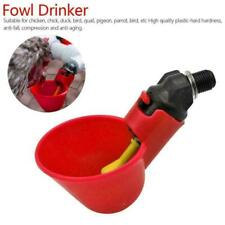 10/20pcs Bird Coop Poultry Automatic Water Drinking Cup Drinker Chicken F9W3