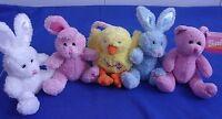 Barbie Easter Bunnies & Chick Rabbit Plush Beanbag Lot of 5-Excellent Condition