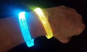 Rainbow LED Light Up Bracelets 3 PACK Kids Festivals Parties Raves Mardi Gras