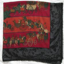 -Superbe châle  SALVATORE FERRAGAMO   soie et laine TBEG  vintage scarf