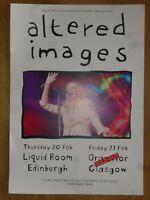 Altered Images - Edinburgh/Glasgow feb.2020 live music show concert gig poster