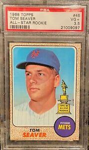 1968 Topps TOM SEAVER Mets All-Star Rookie #45 PSA 3.5 VG+