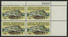#1409 6c Fort Snelling, Plate Block [32331 UR], Mint **ANY 4=FREE SHIPPING**