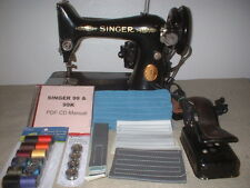 Singer Scroll Face Model 99 Vintage Sewing Machine & DVD Instruction Manual